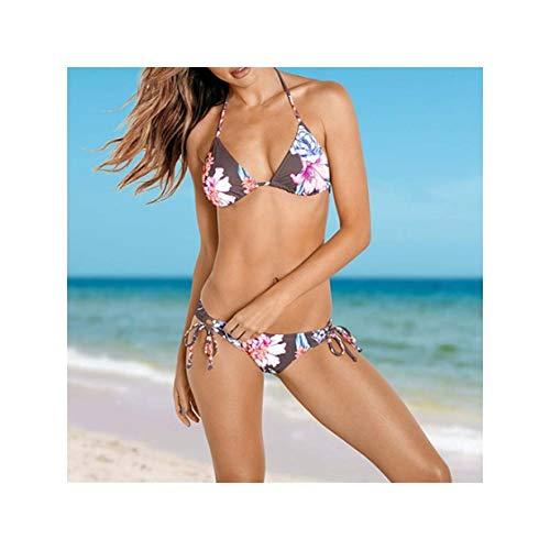 ASILAX& Sexy Print Bikini Mujer New Swimwear Women Swimsuit Beach Bathing Suit Thong Micro Bikinis Set Monokini Brazilian Biquini Champagne S -