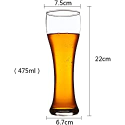 Upper-2 pack de cerveza cerveza de importación de jugo de vidrio sin plomo grueso Supercopa Copa beber cerveza cup,475 ml *2