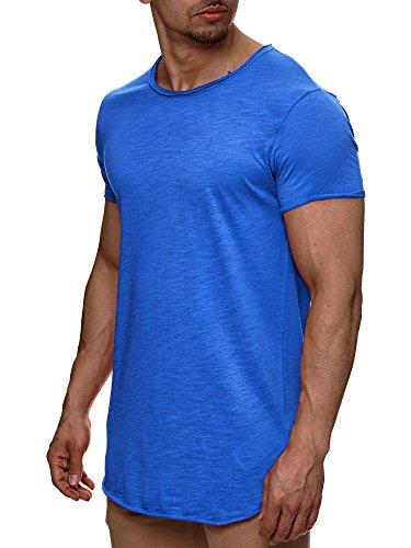 Indicode Herren Willbur Herren T-Shirt Kurzarm Shirt mit Rundhalsausschnitt 30 Farben S-3XL Palace Blue M