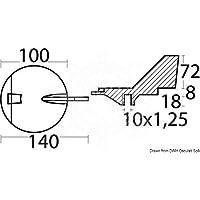 Osculati Anodo magnesio Yamaha 100/200 HP (Magnesium Fin Anode Counter-rotat.