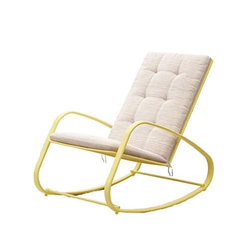 Rocking chair Chaise à Bascule Health UK Terrasse en Fer forgé Lavable pour intérieur et extérieur