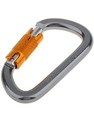 28KN Mousqueton d'Escalade Crochet à Verrouillage en Alliage d'Aluminium pour Descente en Rappel Sport Extérieur