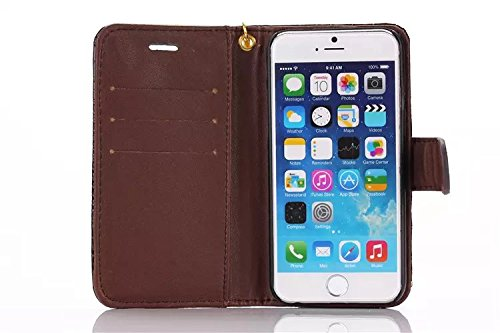 Krokodil Pattern PU Ledertasche, Horizontale Flip Stand Folio Wallet Holster Case Cover mit Lanyard & Card Slots für iPhone 6 Plus & 6s Plus ( Color : Brown ) Brown