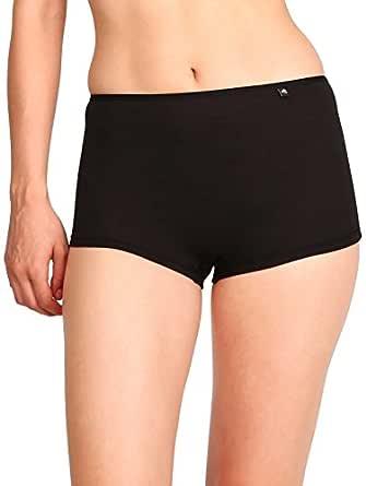Jockey Women's Boy Leg Short (SS04_Black_S)