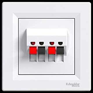 asfora–Lautsprecher Dose, Komplett, Schneider Electric, weiß, NEU