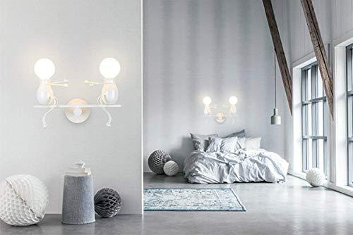 Lampada da parete applique industrial regolabile in metallo