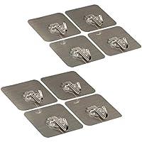 CCUCKY 8 Piezas Ganchos de Pared Adhesivo sin Clavo,Ganchos Adhesivos de Plástico,Strick Fuerte,Reutilizable,Impermeable,Máximo 22lbs/10KG