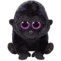 Ty - Beanie Boos George, Gorila, 23 cm, Color Negro (United Labels Ibérica 37144TY)