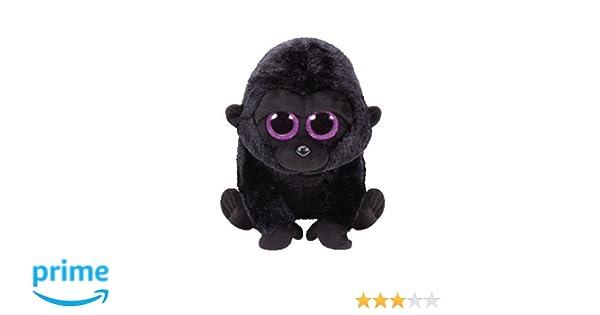 Alaska Stuffed Animals, Ty 37222 Beanie Boos Plush George The Gorilla Black Regular