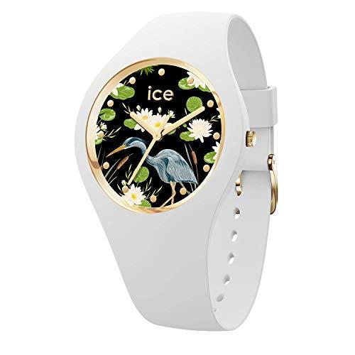 Ice-watch - ice flower waterlily - orologio bianco da donna con cinturino in silicone - 016666 (medium)