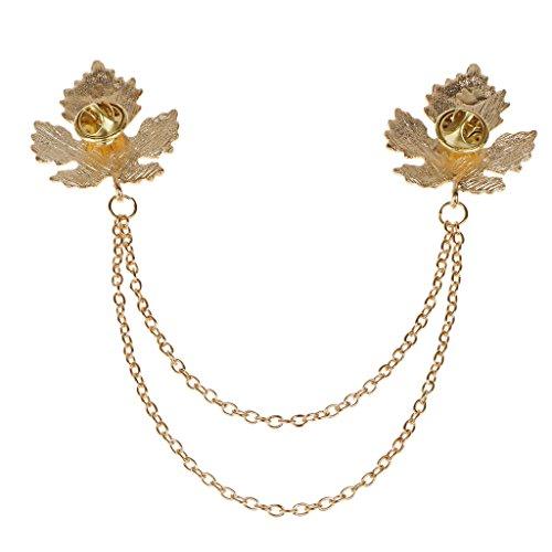 Bronce Antiguo Collar De La Hoja De Arce Retro Cadena De Broche De Reg
