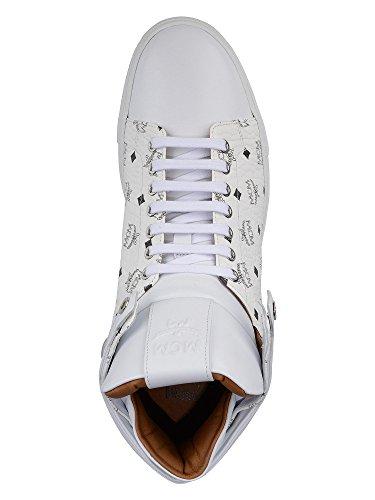 MCM Messieurs Baskets montantes cuir véritable Blanc