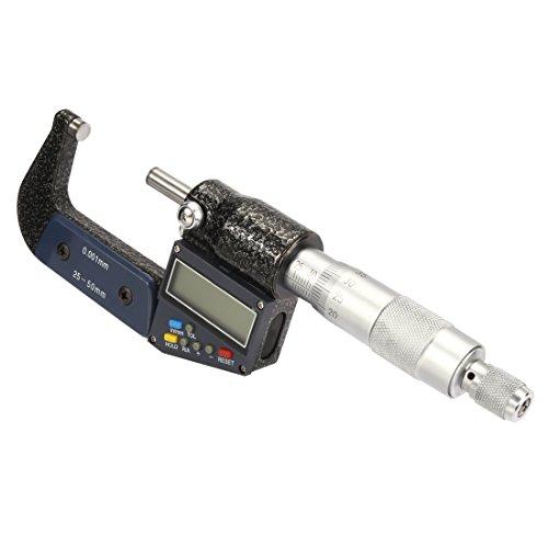 sourcingmap® 1-Zoll - 2 Zoll / 25mm-50mm Digital Außenmikrometer, Elektronisches LCD Display