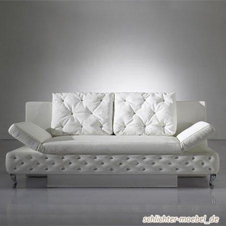 Schlafcouch Rokkoko in Weiß