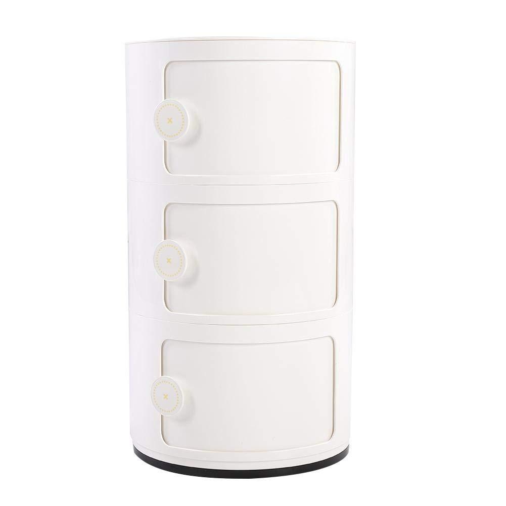 Cassettiera Con Rotelle Bagno.Gototop Cassettiera Componibili A 3 Strati Rotonda In Plastica