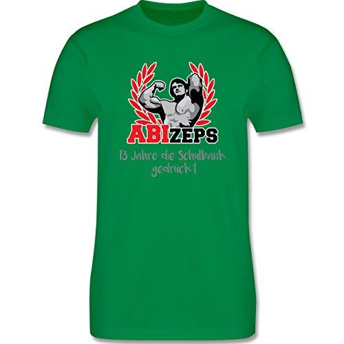 Abi & Abschluss - ABIzeps - 13 Jahre die Schulbank gedrückt - Herren Premium T-Shirt Grün