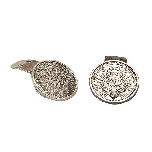 Alpenflüstern Trachten-Schuhclips Münze Antik-Silber-Farben API099