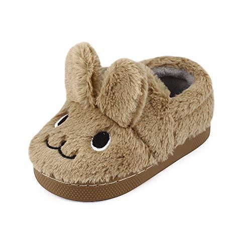 MK MATT KEELY Boys Girls Cartoon Rabbit Slippers Toddler Winter Warm Plush Shoes Kids Sliders