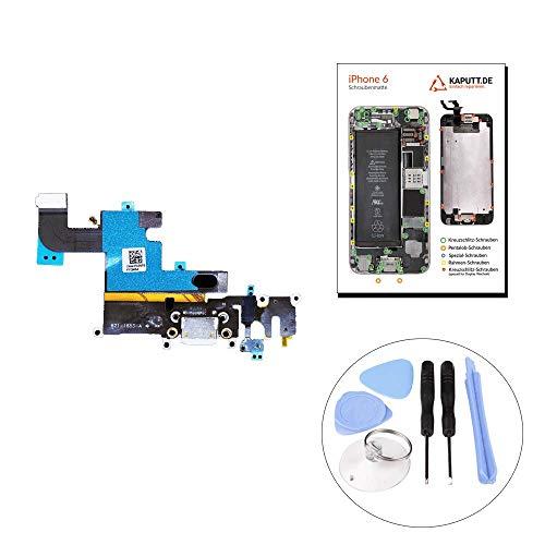 kaputt.de Dock Connector für iPhone 6 LADEBUCHSE | MIKROFON | KOPFHÖRER-BUCHSE Platine inkl. DIY Reparatur-Set