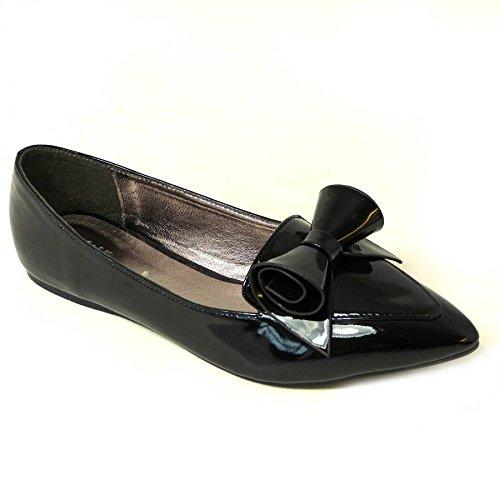 SKO'S , Ballerines pour femme - Black Patent (jyx-1)