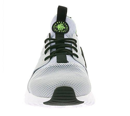 Nike Air Huarache Run Ultra, Chaussures de Running Entrainement Homme, Gris, 9,5 UK / 44,5 EU / 10,5 US Azul / Verde / Plateado (Ryl Blue / Blk-Scrm Grn-Pr Pltnm-)