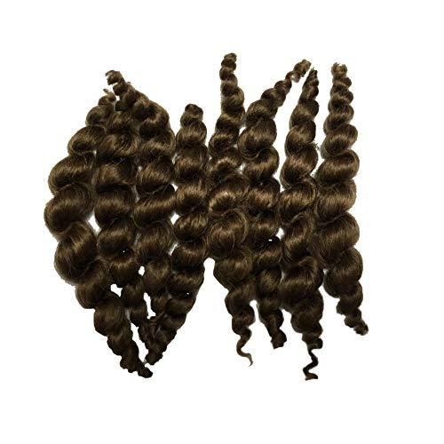 Binxing Toys Reborn Doll Supplies Premium Curly Blonde or Drak Brown Mohair 20g Look Real Baby Hair Soft (Drak Brown)