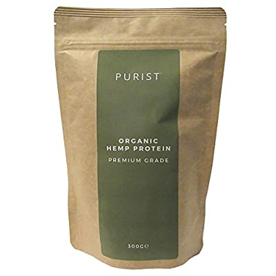 Premium Organic Hemp Protein Powder By PURIST - Natural Raw Superfood & Nutritional Supplement - Suitable For Vegan Diets - Omega-3 , Amino-Acid, Fiber, Minerals & High Protein Content - 300g Pack