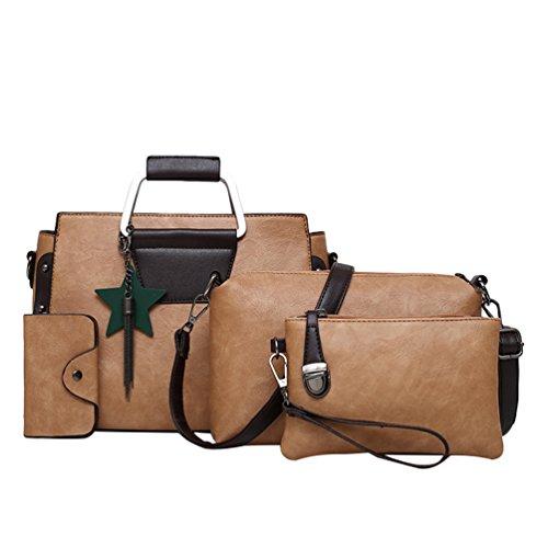 Anguang Damen Schultertasche Handtaschen Messenger Bags Karte Paket Sets Tasche Handtaschen Khaki