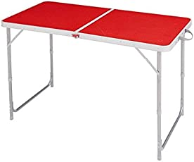 QUECHUA CAMPING TABLE / HIKER'S CAMP 4 OR 6 PEOPLE RED