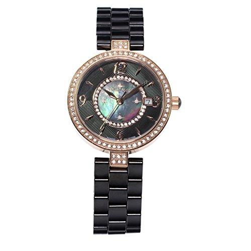 Stella Maris Damen Armbanduhr - Analog Quarz - Premium Keramik Armband - Perlmutt Zifferblatt - Diamanten und Swarovski Elemente - STM15SM10