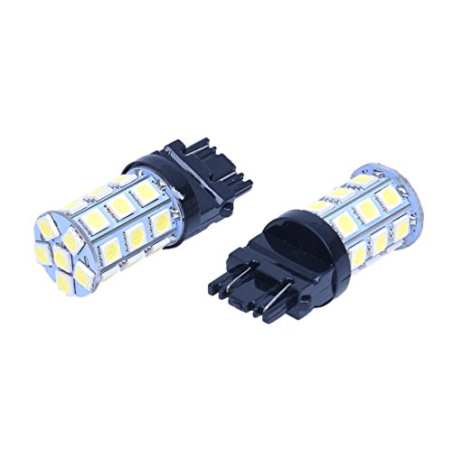 SODIAL(R) 2x T25 W21/5W 3157 7443 Blanc XENON 5050 SMD 27 LED AMPOULE Lampe 12V VOITURE lumiere