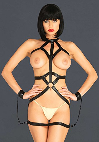 Leg Avenue Damen Bondage Riemen-Body Harness Kleid schwarz