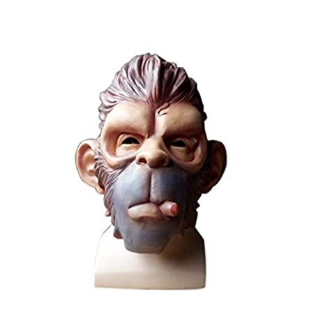 Smoking Ape Latex Overhead Mask Nouveauté Halloween,OneSize-A