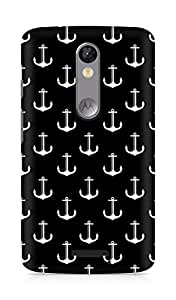 Amez designer printed 3d premium high quality back case cover for Motorola Moto X Force (Black and white)