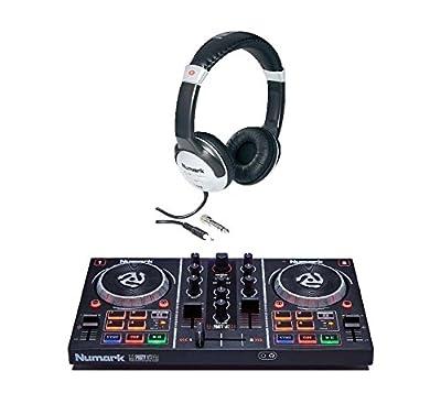 Numark Party Mix PartyMix DJ Controller & Numark HF125 DJ Headphones