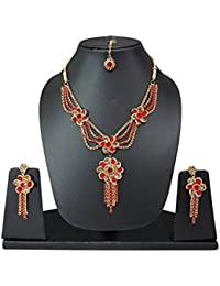 Diamond Silver Plated Necklace Set For Women / Weddings Jewellery / Perfect Gift For Weddings Girls (10616)