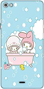 Snoogg Cute Baby Shower Designer Protective Back Case Cover For Micromax Canvas Silver 5 Q450