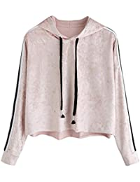 Styledress Sweatshirt Damen,Damen Langarmshirt Gestreiftes Hoodie Sweatshirt  Sweatjacke Langarm Pullover Hosenanzug T-Shirt Oberteil… 00aa88c018