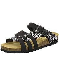 AFS-Schuhe 2122 Damen Pantoletten aus echtem Leder, hochwertige Hausschuhe  für Frauen mit Eva 988d5d07a2