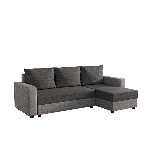 Mirjan24  Ecksofa Vibo! Eckcouch Sofa mit Bettkasten und Schlaffunktion! L-Form Couch, Ottomane...