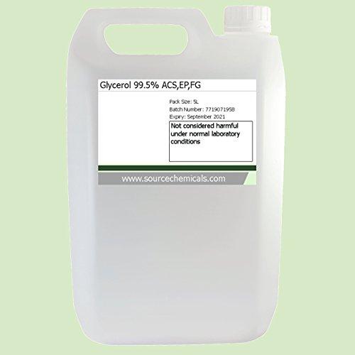 Glycerol (Glycerine) Vegetable Kosher Food / Pharma Grade 5 Litre (5L) Including Delivery