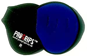 OFFICIAL Pro Grips™ Weight Lifting Leather Gym Training Gloves (Blue) Size MEDIUM