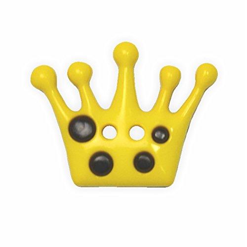 Juego de botones en forma de corona de amarillo de 28 mm 4 pcs de botones de alta calidad fabricado en Alemania