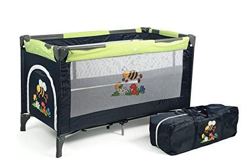 CHIC 4 BABY 340 16 Reisebett Luxus mit Einhängeboden für Neugeborene und Tragetasche, bumblebee (Kinderbett Mit Tasche)