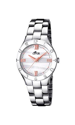 Lotus Watches Reloj Análogo clásico para Mujer de Cuarzo con Correa en Acero Inoxidable 15895/4