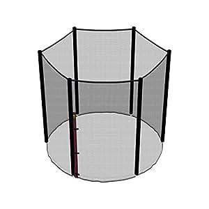 Ampel 24, Filet de sécurité de rechange pour trampoline 183 cm et 6 barres   piquets non inclus   résistant aux UV   filet extèrieur