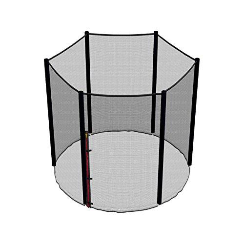 Ampel 24 Ersatz Sicherheitsnetz für Trampolin Ø 183 cm, Gartentrampolin Ersatznetz für 6 Stangen, Netz außenliegend, Ersatzteil reißfest, UV-beständig