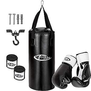 TecTake Box Set Boxsack 56cm gefüllt mit 10kg + Halterung inkl. Boxhandschuhe...