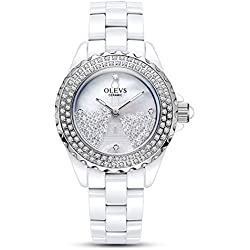 Lady ceramic/French romantic watches/Simple casual watches-E