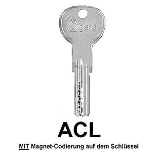 GERA 6500MC bzw. R6MC Ersatzschlüssel, Zusatzschlüssel, Nachschlüssel - Schlüssel für GERA 6500MC Wendeschlüsselzylinder - für alle ACL Schließungen - ACL000001 bis ACL002462 - nachträglicher Schlüssel nach Code / Schließung - mit Magnet-Codierung
